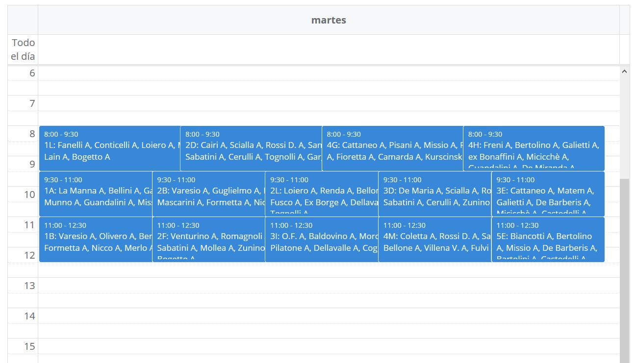 Visualizza e modifica le assegnazioni con un click
